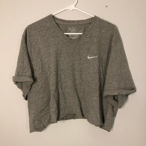 Nike Oversized Embroidered V Neck Top